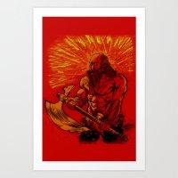 viking Art Prints featuring Viking  by David Miley