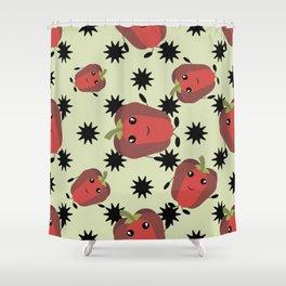 Cute red pepper Shower Curtain