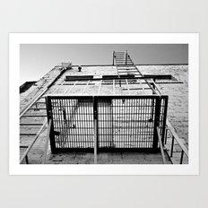 Back alley balcony Art Print