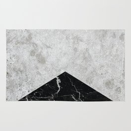 Concrete Arrow Black Granite #844 Rug