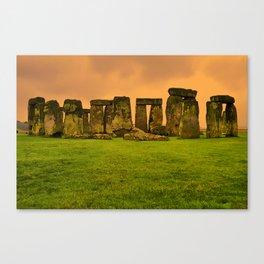 The Standing Stones - Stonehenge Canvas Print