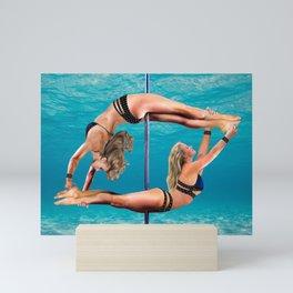 PLAYFUL POLE DANCERS Mini Art Print
