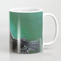 millenium falcon Mugs featuring Falcon by ED Art Studio