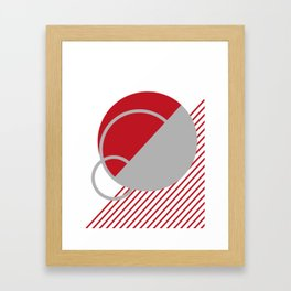 lines in red Framed Art Print