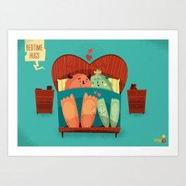 :::Bedtime Hugs::: Art Print