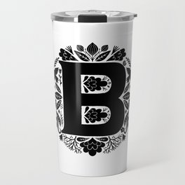 Letter B monogram wildwood Travel Mug