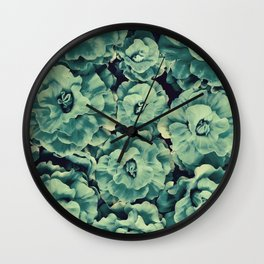 Floating Flowers Wall Clock