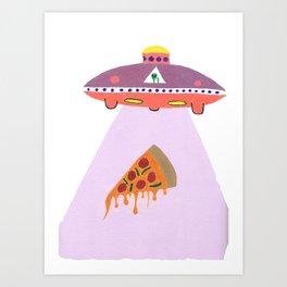 Pizza Alien Art Print