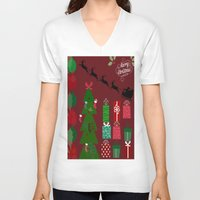 xmas V-neck T-shirts featuring Xmas by JuniqueStudio