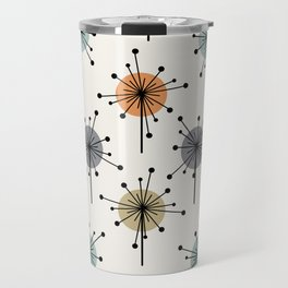 Midcentury Sputnik Starburst Flowers Colorful Travel Mug
