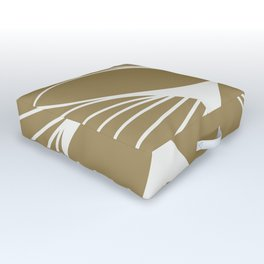 Diamond Series Floral Diamond Twist White on Gold Outdoor Floor Cushion
