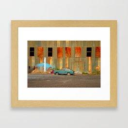 Lone car.  Framed Art Print