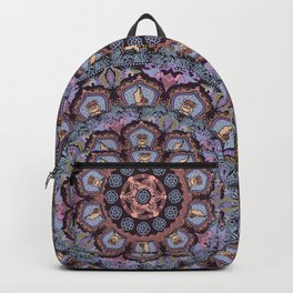 English Bulldog Yoga Medallion Backpack