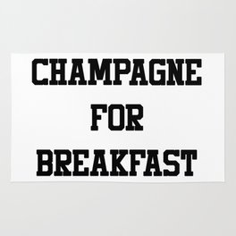Champagne For Breakfast Rug