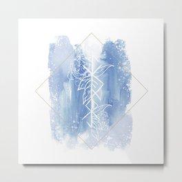 Spiritual Warrior Rune- Watercolour illustration Metal Print