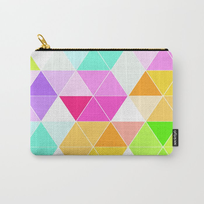 Colorful Triangle Mosaic Carry-All Pouch