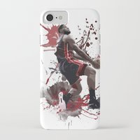 lebron iPhone & iPod Cases featuring LeBron 6 by Asta Dagmar