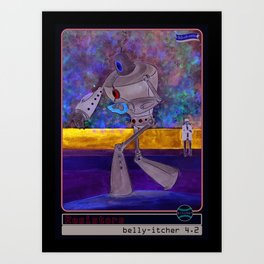 The Belly-Itcher 3000 Baseball Card by michael white Art Print