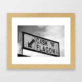 Cask 'n Flagon Framed Art Print