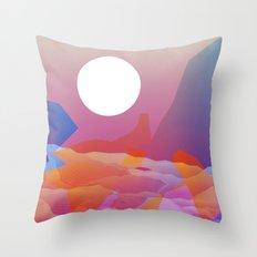 Magic Sunset at D Point Throw Pillow