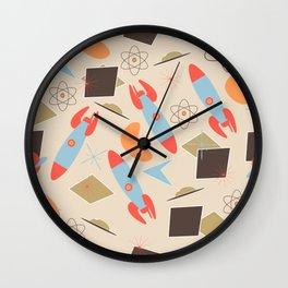 Retro Rocket Ship II Wall Clock