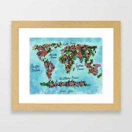 World in Bloom Framed Art Print
