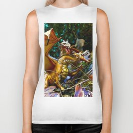 Golden Dragons Nest Biker Tank