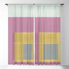 Color Ensemble No. 6 Sheer Curtain