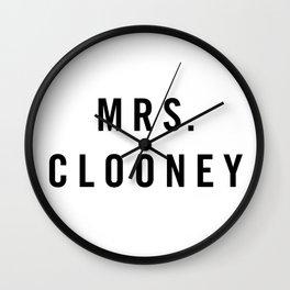 Mrs. Clooney Wall Clock