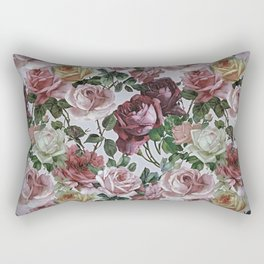Vintage & Shabby-chic - retro floral roses pattern Rectangular Pillow