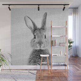 Rabbit - Black & White Wall Mural