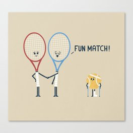 Fun Match Canvas Print