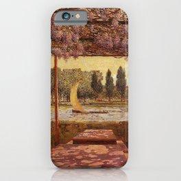 The Trellis by the River by Ferdinand Du Puigaudeau iPhone Case