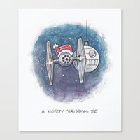 novelty Canvas Prints featuring A Novelty Christmas TIE by CameronKimJones