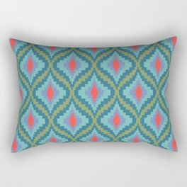 Bright Flame Bargello Rectangular Pillow