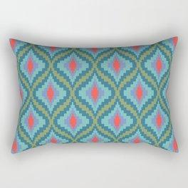 Bright Flame Bargello Rectangular Pillow