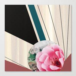 Digital collage, digital art, geometric, floral Canvas Print