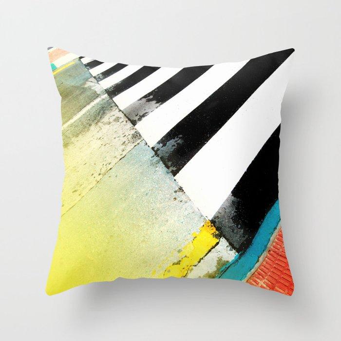 Urban Street Art Painting Throw Pillow