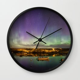 Aurora and the ISS Wall Clock