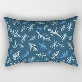 Twigs in Winter's Night Rectangular Pillow