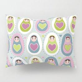 matryoshka with heart Pillow Sham