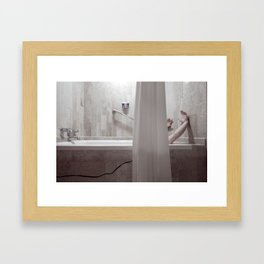 8 oct. 1968 - I got up at 7.57 A.M. Framed Art Print