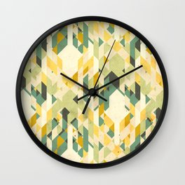 des-integrated tartan pattern Wall Clock