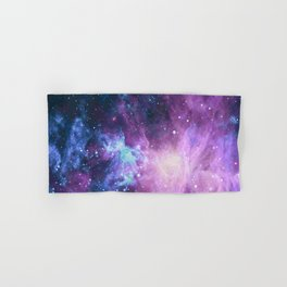 Galaxy dust space with stars Hand & Bath Towel