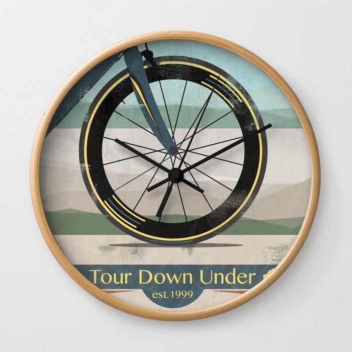 Tour Down Under Bike Race Wall Clock