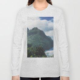 Na Pali Coast Kauai Hawaii Long Sleeve T-shirt