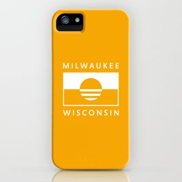 Milwaukee Wisconsin - Gold - People's Flag of Milwaukee iPhone Case