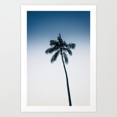 palm tree ver.navy Art Print