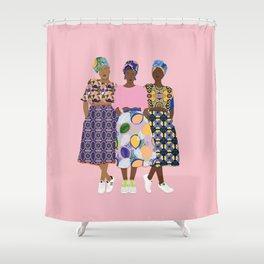 GIRLZ BAND Shower Curtain