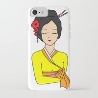korean iPhone & iPod Cases featuring Korean Maiden by RaJess